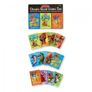 Black Friday 2020 - Melissa & Doug Classic Card Games Set - Old Maid, Go Fish, Rummy