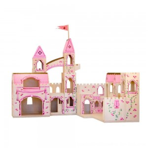 Black Friday 2020 - Melissa & Doug Folding Princess Castle Wooden Dollhouse With Drawbridge and Turrets
