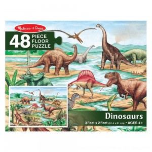 Black Friday 2020 - Melissa And Doug Dinosaurs Jumbo Floor Puzzle 48pc