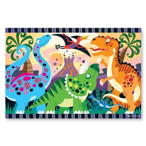 Black Friday 2020 - Melissa & Doug Dinosaur Dawn Jumbo Jigsaw Floor Puzzle (24pc, 2 x 3 feet)