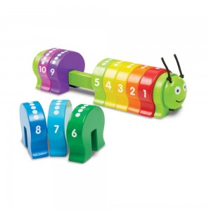 Black Friday 2020 - Melissa & Doug Counting Caterpillar - Classic Wooden Toy With 10 Colorful Numbered Segments