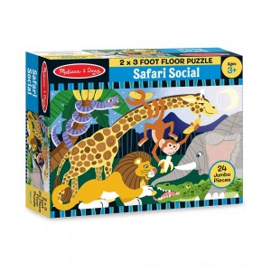 Black Friday 2020 - Melissa And Doug Safari Social Jumbo Floor Puzzle 24pc