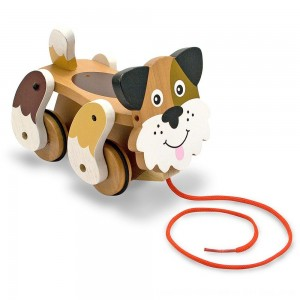 Black Friday 2020 - Melissa & Doug Playful Puppy Wooden Pull Toy for Beginner Walkers
