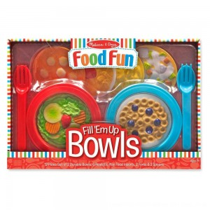 Black Friday 2020 - Melissa & Doug Create-A-Meal Fill Em Up Bowls (12pc) - Play Food and Kitchen Accessories