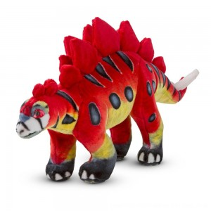 Black Friday 2020 - Melissa & Doug Giant Stegosaurus Dinosaur - Lifelike Stuffed Animal
