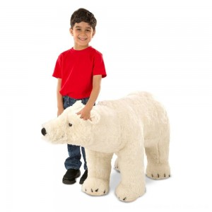 Black Friday 2020 - Melissa & Doug Giant Polar Bear - Lifelike Stuffed Animal (nearly 3 feet long)