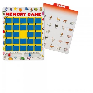 Black Friday 2020 - Melissa & Doug Flip to Win Travel Memory Game - Wooden Game Board, 7 Double-Sided Cards, Kids Unisex