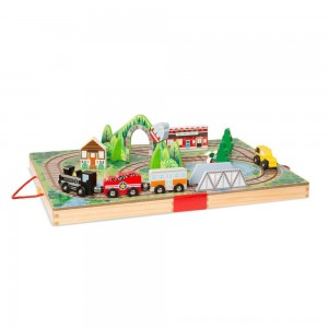 Black Friday 2020 - Melissa & Doug Take-Along Railroad 17pc