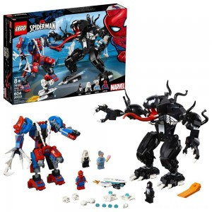 Black Friday 2020 - LEGO Marvel Spider Mech Vs. Venom Ghost Spider Superhero Playset with Web Shooter 76115
