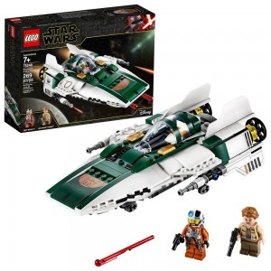 Black Friday 2020 - LEGO Star Wars: The Rise of Skywalker Resistance A-Wing Starfighter 75248 Advanced Collectible Starship Model Building Kit 269pc