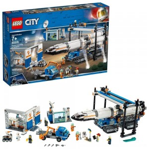 Black Friday 2020 - LEGO City Space Rocket Assembly & Transport 60229 Model Rocket Building Set with Toy Crane 1055pc