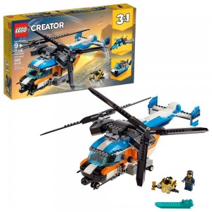 Blac Friday 2020 - LEGO Creator Twin-Rotor Helicopter 31096 Toy Helicopter Building Set with Submarine 569pc