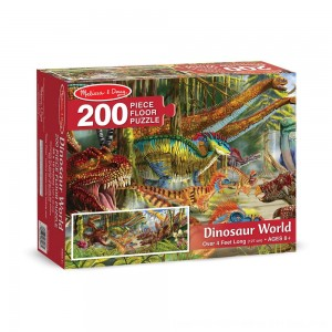 Black Friday 2020 - Melissa And Doug Dinosaur World Jumbo Floor Puzzle 200pc