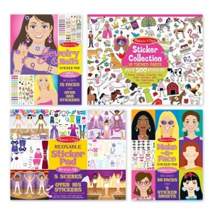 Black Friday 2020 - Melissa & Doug Sticker Pads Set: Jewelry and Nails, Dress-Up, Make-a-Face, Favorite Themes - 1225+ Stickers