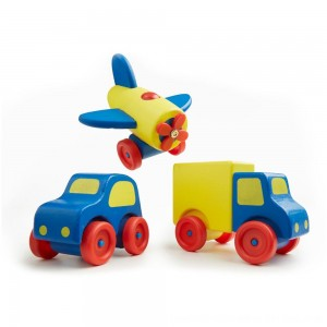 Black Friday 2020 - Melissa & Doug Deluxe Wooden First Vehicles Set With Truck, Car, and Airplane