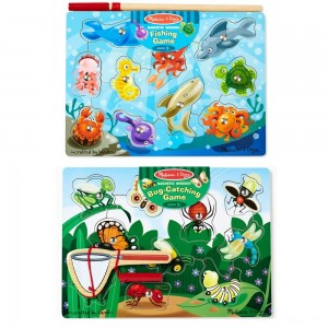 Black Friday 2020 - Melissa & Doug Magnetic Wooden Puzzle Game Set: Fishing and Bug Catching