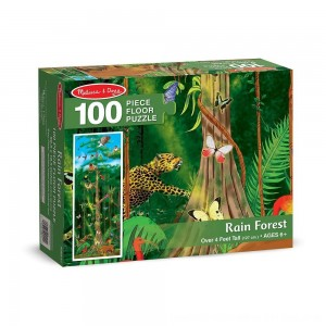 Black Friday 2020 - Melissa & Doug Rainforest Jumbo Jigsaw Floor Puzzle 100pc