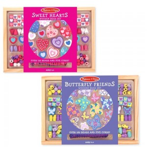 Black Friday 2020 - Melissa & Doug Sweet Hearts and Butterfly Friends Bead Set of 2 - 250+ Wooden Beads