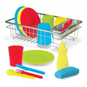 Black Friday 2020 - Melissa & Doug Let's Play House Wash and Dry Dish Set (24pc)