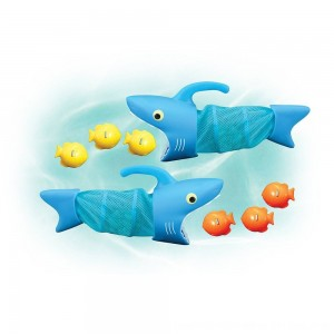 Black Friday 2020 - Melissa & Doug Sunny Patch Spark Shark Fish Hunt Pool Game With 2 Nets and 6 Fish to Catch