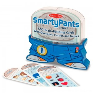 Black Friday 2020 - Melissa & Doug Smarty Pants 1st Grade Card Set - 120 Educational, Brain-Building Questions, Puzzles, and Games, Kids Unisex