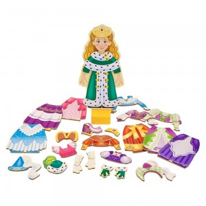 Black Friday 2020 - Melissa & Doug Deluxe Princess Elise Magnetic Wooden Dress-Up Doll Play Set (24pc)