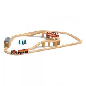 Black Friday 2020 - Melissa & Doug Swivel Bridge Wooden Train Set (47pc)