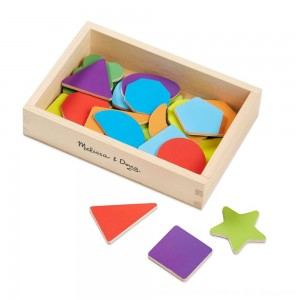 Black Friday 2020 - Melissa & Doug 25 Wooden Shape and Color Magnets in a Box
