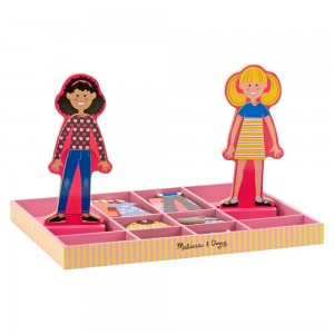 Black Friday 2020 - Melissa & Doug Abby and Emma Deluxe Magnetic Wooden Dress-Up Dolls Play Set (55+pc)