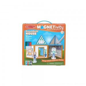 Black Friday 2020 - Melissa & Doug Magnetivity - Draw & Build House