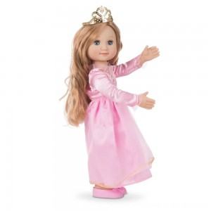 Black Friday 2020 - Melissa & Doug Celeste 14-Inch Poseable Princess Doll With Pink Gown and Tiara