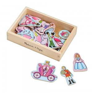 Black Friday 2020 - Melissa & Doug 20 Wooden Princess Magnets in a Box