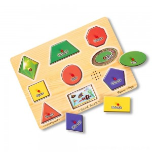 Black Friday 2020 - Melissa & Doug Assorted Shapes Sound Puzzle Set - 9pc