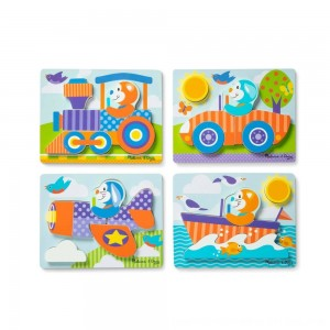 Black Friday 2020 - Melissa & Doug First Play 6pc Jigsaw Puzzle Set Vehicles