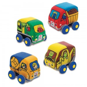 Black Friday 2020 - Melissa & Doug Pull-Back Construction Vehicles - Soft Baby Toy Play Set of 4 Vehicles