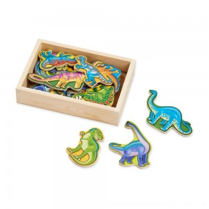 Black Friday 2020 - Melissa & Doug Magnetic Wooden Dinosaurs with Wooden Tray - 20pc