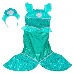 Black Friday 2020 - Melissa & Doug Mermaid Role Play Costume Set - Gown With Flaired Tail, Seashell Tiara, Women's
