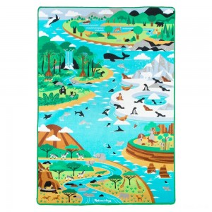 Black Friday 2020 - Melissa & Doug Jumbo Habitats Activity Rug, 58 x 79""