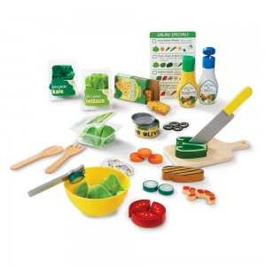 Black Friday 2020 - Melissa & Doug Slice and Toss Salad Play Food Set - 52pc Wooden and Felt