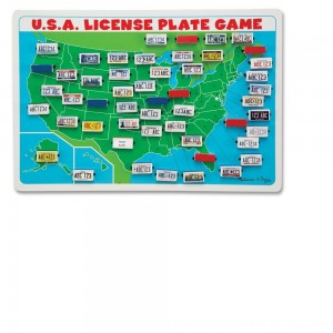 Black Friday 2020 - Melissa & Doug Flip to Win Travel License Plate Game, Kids Unisex