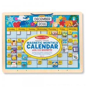 Black Friday 2020 - Melissa & Doug Monthly Magnetic Calendar With 133 Magnets and 2 Fabric-Hinged Dry-Erase Boards