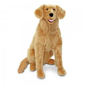 Black Friday 2020 - Melissa & Doug Giant Golden Retriever - Lifelike Stuffed Animal Dog (over 2 feet tall)