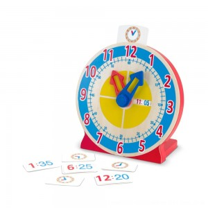Black Friday 2020 - Melissa & Doug Turn & Tell Wooden Clock - Educational Toy With 12+ Reversible Time Cards