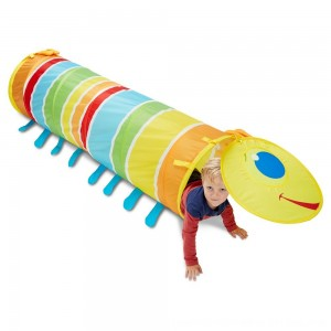 Black Friday 2020 - Melissa & Doug Sunny Patch Giddy Buggy Crawl-Through Tunnel (almost 5 feet long)