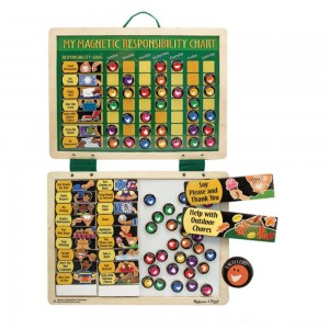 Black Friday 2020 - Melissa & Doug Deluxe Wooden Magnetic Responsibility Chart With 90 Magnets