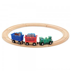 Black Friday 2020 - Melissa & Doug Zoo Animal Wooden Train Set (12+pc)