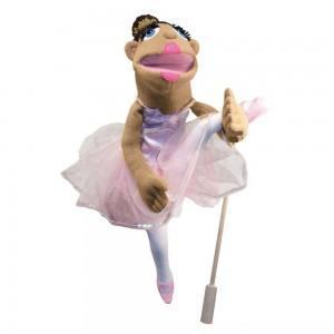 Black Friday 2020 - Melissa & Doug Ballerina Puppet - Full-Body With Detachable Wooden Rod for Animated Gestures