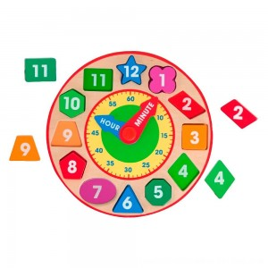 Black Friday 2020 - Melissa & Doug Shape Sorting Clock - Wooden Educational Toy