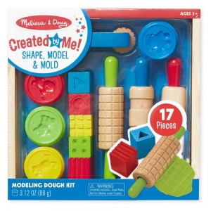 Black Friday 2020 - Melissa & Doug Shape, Model, and Mold Clay Activity Set - 4 Tubs of Modeling Dough and Tools