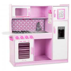 Black Friday 2020 - Melissa & Doug Chef's Kitchen Pretend Play Set - Cupcake Pink/White